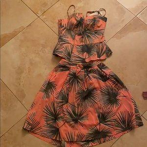 A two piece skirt set